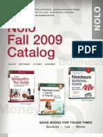Nolo Fall 2009 Catalog