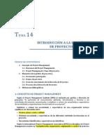 Tema 14. Introducción a la gestion del proyecto