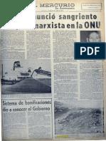 Chile denunció sangriento complot marxista en la ONU