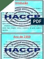 STC7 - HACCP CRONOLOGIA
