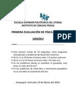 Cp1-2010 FISICA NIVEL 0B (V0) Primera Evaluacion