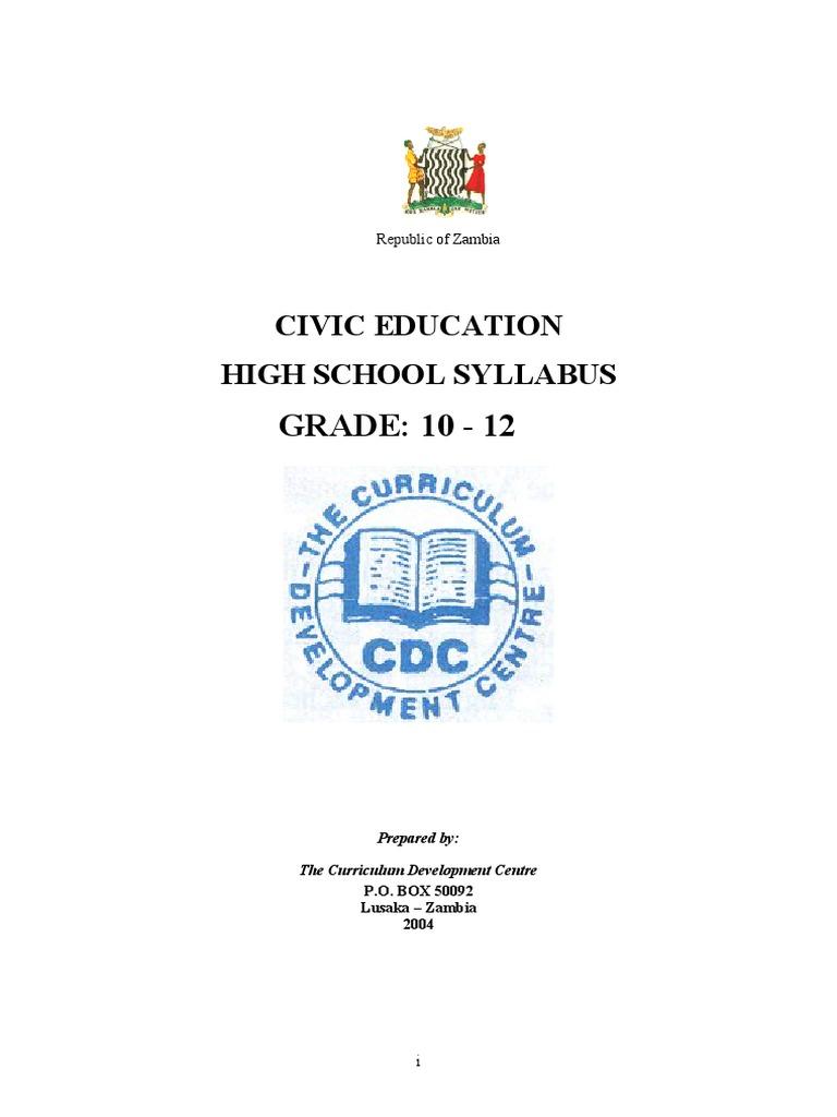 Civic Education Syllabus Grade 10-12   Governance   Human Rights