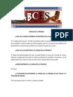 ABCES 2012 Carga de La Prueba