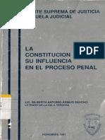 Armijo Sancho La Constitucion Politica Su Influencia en El Proceso Penal