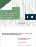 Valutazione Del Rischio Di Un Investimento