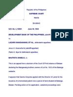 DBP vs Mangawang