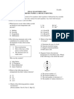 Final Exam Chemistry