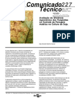 Avaliação da Eficiência de fungicidas no controle da ferrgem da soja