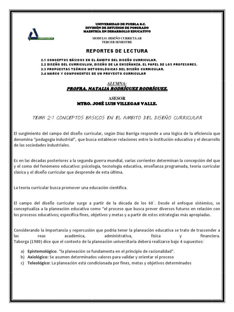 UNIDAD 2_DISEÑO Y DESARROLLO DEL CURRICULUM