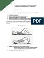 Los ejercicios explicados a continuación