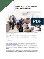 Los Temidos Puntos de La Ley Del Servicio Civil Que Moviliza a Trabajadores