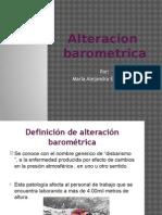 Alteración  barométrica