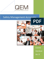 Isqem Safety Management Acronyms Handout No 8