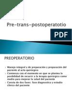 Pre Trans Postoperatorio