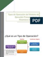 Tipos de Operaciones en El SIAF-SP 2011