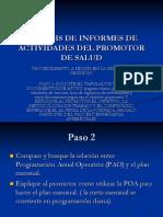 Proceso de monitoreo y análisis de informes p. s.