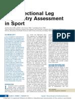 Multidirectional Leg Asymmetry Assessment in Sport.13