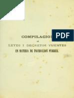 Compilación de leyes y decretos vigentes en materia de instrucción pública