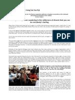 Issues on Daw Aung San Su Kyi