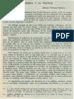 Rousseau y La Politica