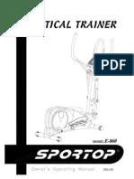 Sportop E860 Manual