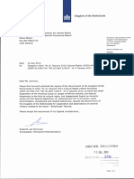 Het Nederlandse antwoord op de VN-brief