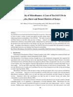Sustainability of Microfinance