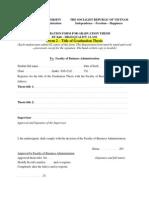 Form2 -đăng ký đề tài viết khóa luận( Tiếng Anh)