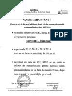 Anunt Cu Perioada de Incasari Taxa Studii Transa I 2013 2014