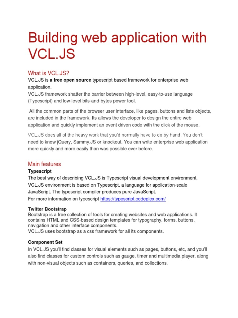 Getting started with VCL JS | Bootstrap (Front End Framework) | Web