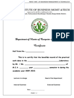 Mca II dbms osmania university lab record