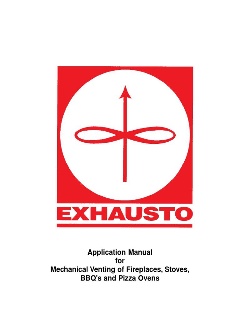 exhausto rs chimney fan application manual chimney fireplace Exhausto RS Chimney Fan  Wireless Switch Exhaust Fan Workshop Exhaust Fans Gas Fireplace Fan Location