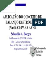 Balanço Eletrolitico em AVES