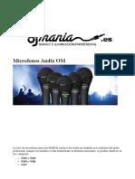 Micrófono para voz Audix om djmania.es