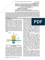 Experimental Investigations on Optimization Of