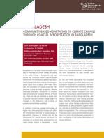 Bangladesh Community Based Adaptation to Climate Chnage