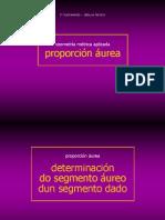 Determinación do segmento áureo
