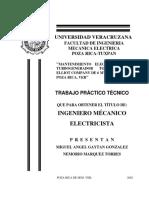 Mantenimiento eléctrico de un turbogenerador