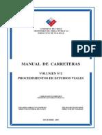 Manual de Carreteras Chile Procedimientos Estudios Viales