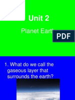Unit 2 - Planet Earth