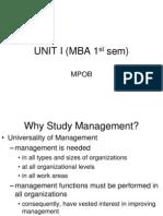 UNIT I (MBA 1st sem)