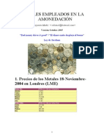Amonedacion Metales Empleados