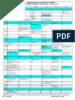 Academic Calendar Jul-Dec 2013