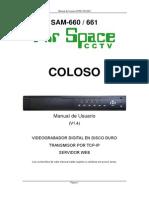 Manual video grabador digital circuito cerrado de TV Airspace Sam_660-661