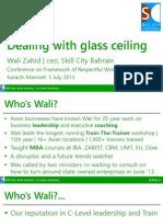 Dealing With Glass Ceiling - Wali Zahid - SkillCity
