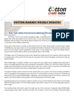 INTERNATIONAL COTTON MARKET WEEKLY REPORT