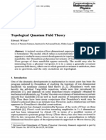 Topological Quantum Field Theory Witten