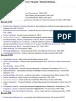 Lutas e Revoltas No Brasil