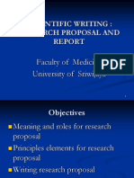 Research Proposal and Report by Dr. Krisna Murti
