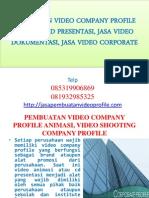112362124 Pembuatan Video Company Profile Animasi Video Shooting Company Profile Jasa Video Corporate
